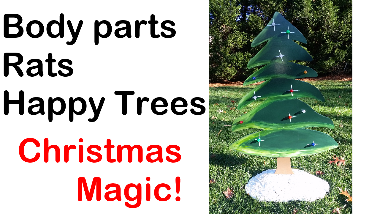 Christmas Tree Lawn Ornaments
